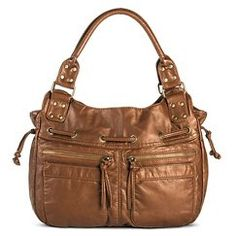 Women's' Satchel Handbag with Zipper Pockets - Tan