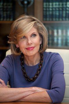 Flattering Bob Hairstyles for Older Women: Christine Baranski