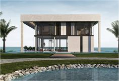 NURAI ISLAND PRIVATE RESIDENCES | ABU DHABI    These residential villas for Nurai, a resort on a natural island off the coast of Abu Dhabi, have been designed by New York-based design Studio Dror led by Dror Benshetrit.