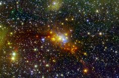 Within the swaddling dust of the Serpens Cloud Core, astronomers are studying one of the youngest collections of stars ever seen in our galaxy. Image Credit: NASA/JPL-Caltech/2MASS http://www.nasa.gov/jpl/spitzer/constellation-serpens-20140528/#.U4c3JPldWSo and https://plus.google.com/+NASA/posts