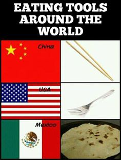 I tell people this all the time haha. Most mexicans I know use tortillas way more than forks.