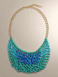 Make this on a smaller scale - perhaps with pearls - ombre?
