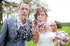 Since we didn't do it during our wedding,use glitter during our 1 year anniversary shoot. Would be so much fun!! <3