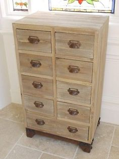 Vintage-Industrial-Style-Multi-Drawer-Retro-Wooden-amp-Metal-Chest-Of-Drawers
