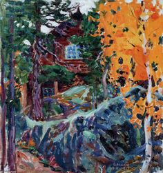 Kalela in Autumn - Akseli Gallen-Kallela - The Athenaeum Finland Helene Schjerfbeck, Scandinavian Paintings, Nordic Art, Life Paint, Canadian Art, Museum Of Fine Arts, Landscape Art, Great Artists, Les Oeuvres