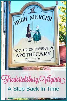 If you have the chance to visit Fredericksburg, VA, this is a must-see!Step inside the apothecary and you step back in time. There is a ledger in the building that shows that many members of George Washingtons family were regular patients of Dr. Hugh Mer