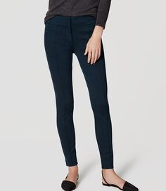 Primary Image of Tall Zip Pocket Pintucked Ponte Leggings