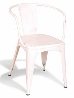French Metal Cafe Chair White - £149.00 - Hicks and Hicks
