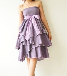 Waft  Purple Cocktail Dress 2 Sizes Available by aftershowershop, $45.00 on ETSY