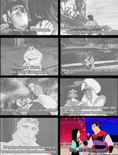 hahaha  Aahhh Disney romance...