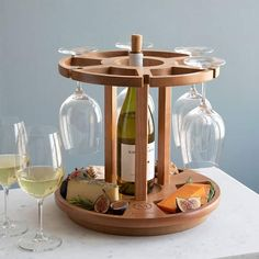 Are you looking to give the bride and groom something that isn't already on their registry? Check out these 28 bridal shower gifts that are totally one-of-a-kind! #bridalshowergifts #uniquebridalshowergifts #bridalshowergiftideas #ModernMOH Personalized Bridal Shower Gifts, Unique Bridal Shower Gifts, Personalized Wine, Wine Barrel Lazy Susan, Good Gifts For Parents, Wine Chart, Wooden Wine Boxes, Wine Table, Wine Cheese