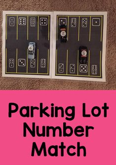 Transportation Theme Activity Pack parking lot number match activity for preschool transportation th Numbers Preschool, Preschool Themes, Preschool Lessons, Preschool Math, Transportation Preschool Activities, Transportation Unit, Montessori Activities, Teaching Themes, Learning Centers