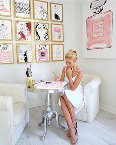 Australian born Kerrie Hess has illustrated for CHANEL, Printemps Paris, Kate Spade New York, Louis Vuitton, Collette Dinnigan and Net-a-Porter.