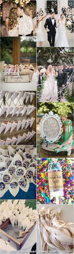 18 Creative Exit Toss Ideas Wedding exits Confetti poppers and