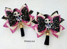 Hairbows, Hair Barrettes, Easy Sewing Projects, Projects To Try, Dog Bows, Diy Hair Bows, Lol Dolls, Diy Hair Accessories, Hello Everyone