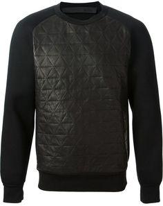 €437, Schwarzer gesteppter Pullover mit Rundhalsausschnitt von Drome. Online-Shop: farfetch.com. Klicken Sie hier für mehr Informationen: https://lookastic.com/men/shop_items/81573/redirect
