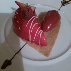Dessert de la saint Valentin. Château de germigney.