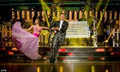 Light on his feet: Former TOWIE star Mark Wright and Karen Hauer danced the Viennese Waltz to I Got You Babe by Sonny and Cher, which was given a high 33