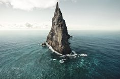 Ball's Pyramid, southeast of Lord Howe Island in the Pacific Ocean.