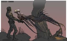 Just wanted to create a thread for compiled early concept art of monsters and/or other creatures of the Evolve Shear world. Feast your eyes and enjoy! Monster Concept Art, Alien Concept Art, Creature Concept Art, Monster Art, Creature Design, Alien Creatures, Fantasy Creatures, Dark Fantasy, Fantasy Art