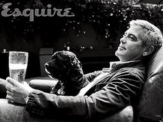 George Clooney and his rescue dog. Nicely done!