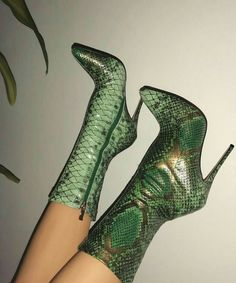 2019 Autumn Green Snake Ankle Boots For Women Sexy Pointy Toe Ladies High Heels Pumps Winter Boots Fashion Party Shoes Woman Lace Up Heels, High Heels Stilettos, High Heel Boots, Heeled Boots, Stiletto Heels, Shoe Boots, Ankle Boots, Boot Heels, Platform Shoes Heels