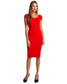 Winter Dress Picks: Narciso Rodriguez stand out red piece. Simple and slimming (Victoria Beckham feel)  More at http://www.fashionattheraces.com/store/