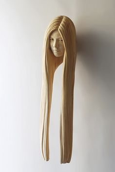 Crazy amazing wooden hair sculptures by Yasuhiro Sakurai. #wishiwouldhavethoughtofthis
