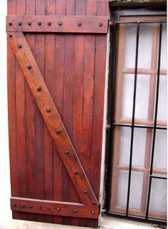 Resultado de imagen para postigos de madera