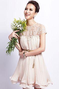 Gorgeous Pleated Chiffon A-line Dress $79.99