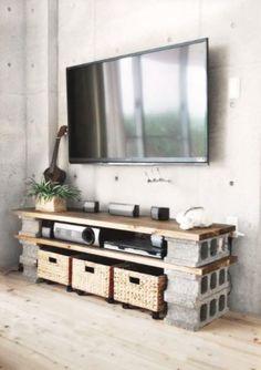 10 créations au look industriel faites de blocs de béton, et facilement réalisables à la maison! #recycler #béton #décor #maison