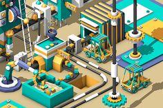 Robot clone factory on Behance
