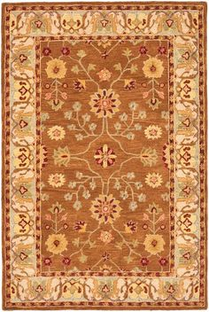 AN562B Rug from Anatolia collection.  Anatolia Collection brings old world sophistication and quality in new tufted rugs. This collection captures the authentic look and feel of the decorative