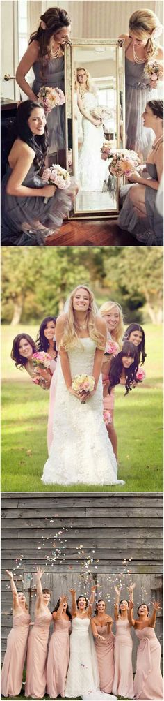 creative wedding photo ideas with bridesmaids