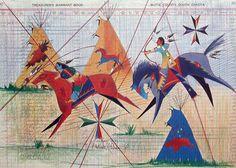 Modern Ledger Art - Donald Montileaux, Lakota