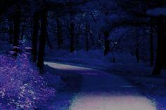 Path in Blue