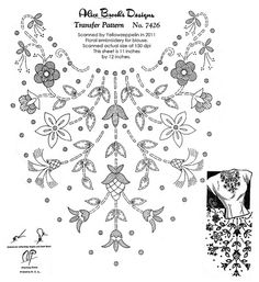 Floral embroidery for a blouse (circa 1940s?)