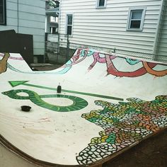 Instagram #skateboarding photo by @ahernandezart - More progress. Almost done. #wip #lindenmural #skateramp #skaterampmural #bmx #skateboarding #columbus #ohio #asseenincolumbus #artmakescbus #streetart #mural #ghetto #thuglife. Support your local skate shop: SkateboardCity.co
