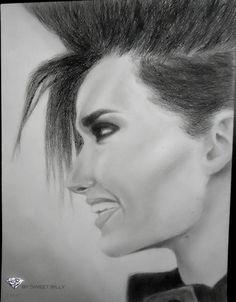 Bill Kaulitz; drawings; А3