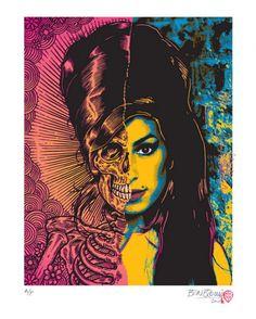 Ben Brown Amy Winehouse #Art #illustration
