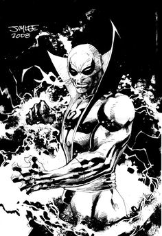 """Iron Fist by Jim Lee. """"It really wouldn't hurt if Lee just took a year off from DC and did more Marvel work."""" the guy who says this is decent human. Comic Book Artists, Comic Book Characters, Comic Book Heroes, Comic Artist, Comic Books Art, Marvel Characters, Iron Fist Comic, Iron Fist Marvel, Marvel Universe"""
