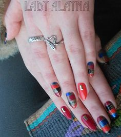 Day 317: Fire, Ice & Fishnet Nail Art - - NAILS Magazine
