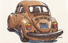 Car Drawings by France Belleville-Van Stone