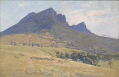 Arthur Streeton, The Grampians (Mount Abrupt), Oil on canvas. × cm I guess is outside but . Landscape Art, Landscape Paintings, Landscape Photography, Landscapes, Australian Painting, Australian Artists, Traditional Paintings, Contemporary Paintings, Blue Horse