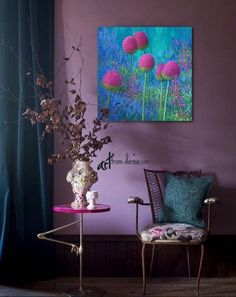 Get inspiration for decorating with 2018 Pantone Color of the Year Ultra Violet. See how to bring Ultra Violet into your interiors. Decor, Living Room Colors, Purple Home, Purple Walls, House Colors, Modern Victorian, Home Decor, Colorful Interiors, Home Decor Furniture