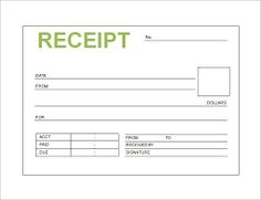 Printable Sales Receipt Template Free Sales Receipt Template For - Receipt book template pdf
