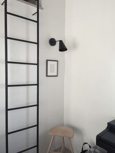Stairs And Staircase, Bachelorette Pad, Ladder Bookcase, Ladder Decor, Tiny House, Loft, Shelves, Interior Design, Attic