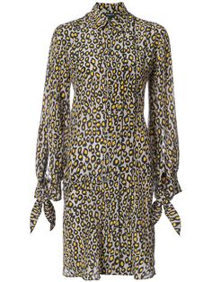 Shop Derek Lam floral print shirt dress.