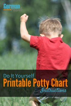 How to Create a DIY Printable Potty Chart for your Toddler | Potty Training Chart Printable via @GermanPearls