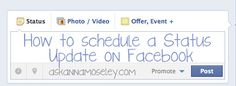 How to schedule a status update on Facebook